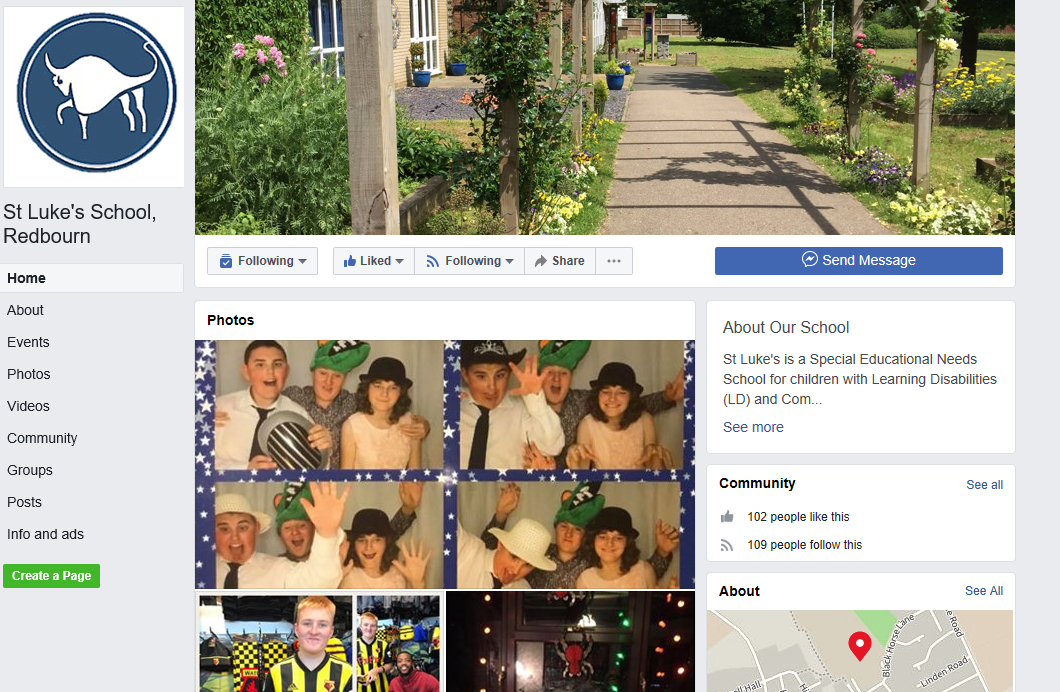 St Luke's School Facebook Page