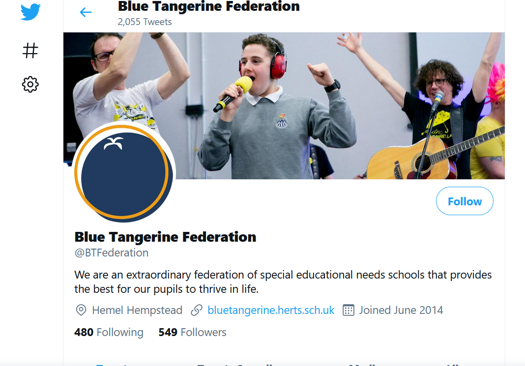Blue Tangerine Federation Twitter Profile