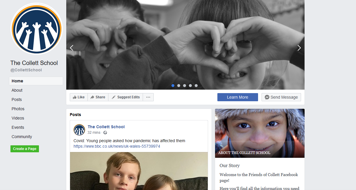 The Collett School Facebook Page